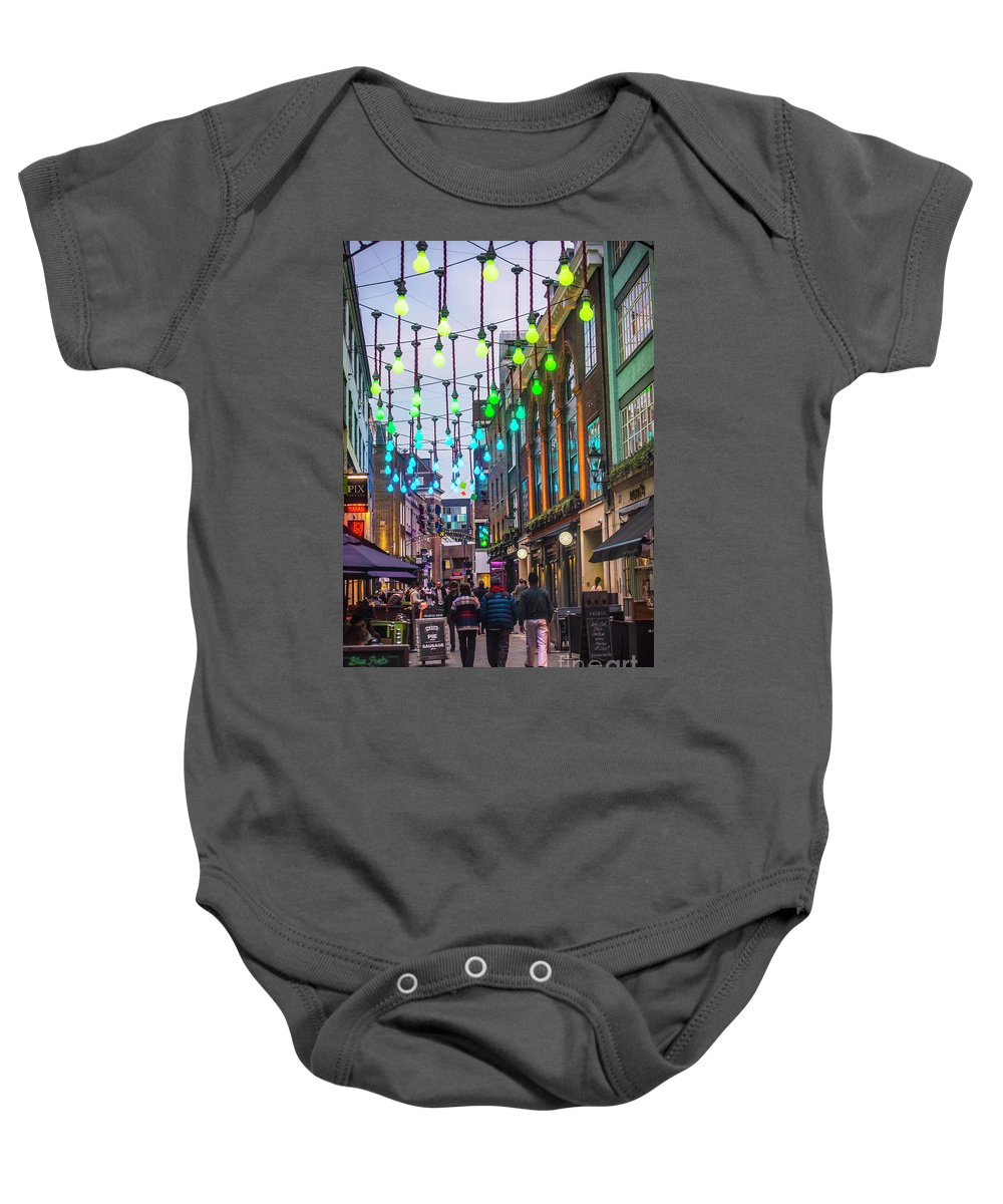 Carnaby Street London Baby Onesie featuring the photograph Carnaby Street London by Alex Art and Photo
