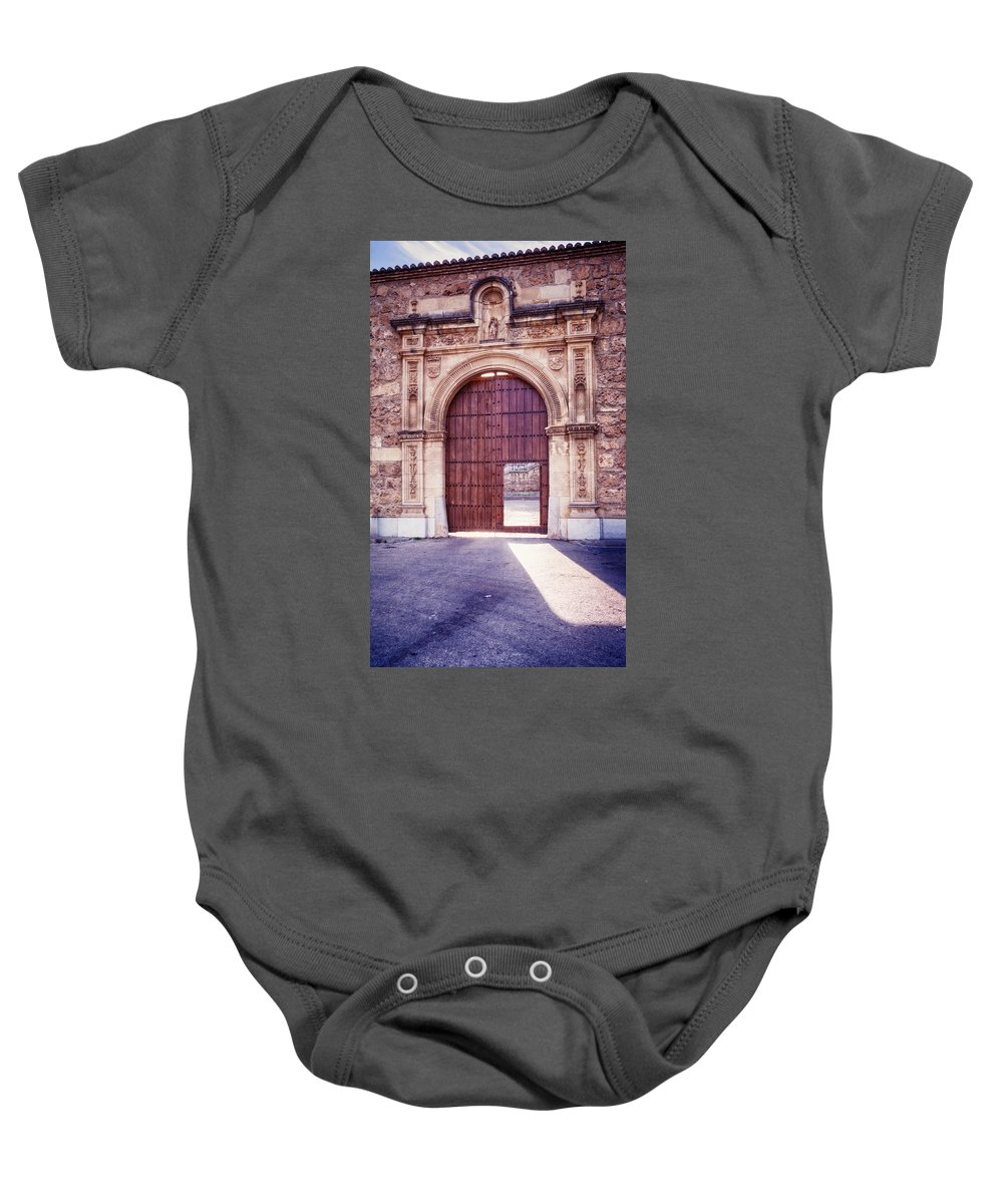 Joan Carroll Baby Onesie featuring the photograph Carthusian Monastery Granada by Joan Carroll