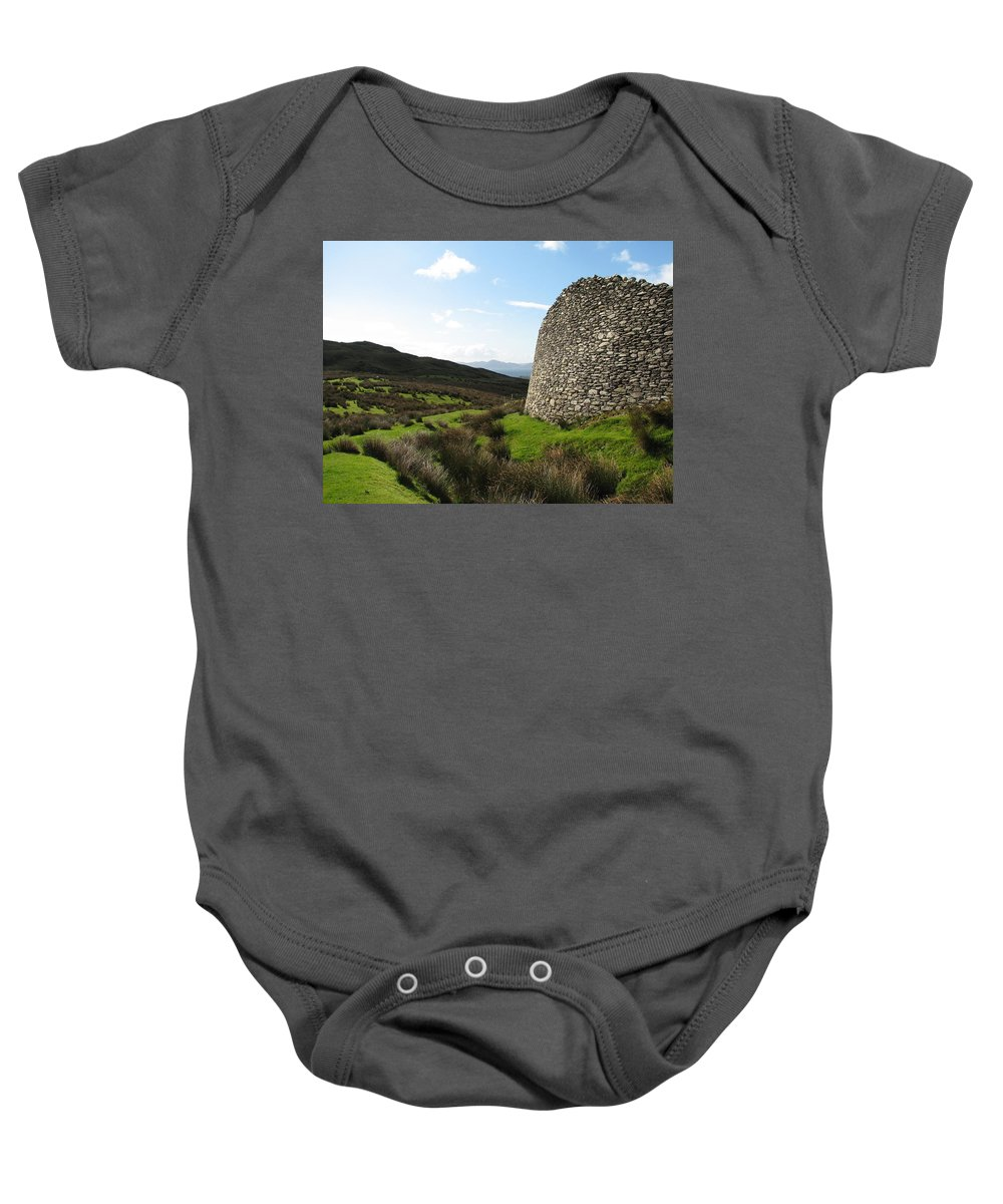Fort Baby Onesie featuring the photograph Cathair Na Steige by Kelly Mezzapelle