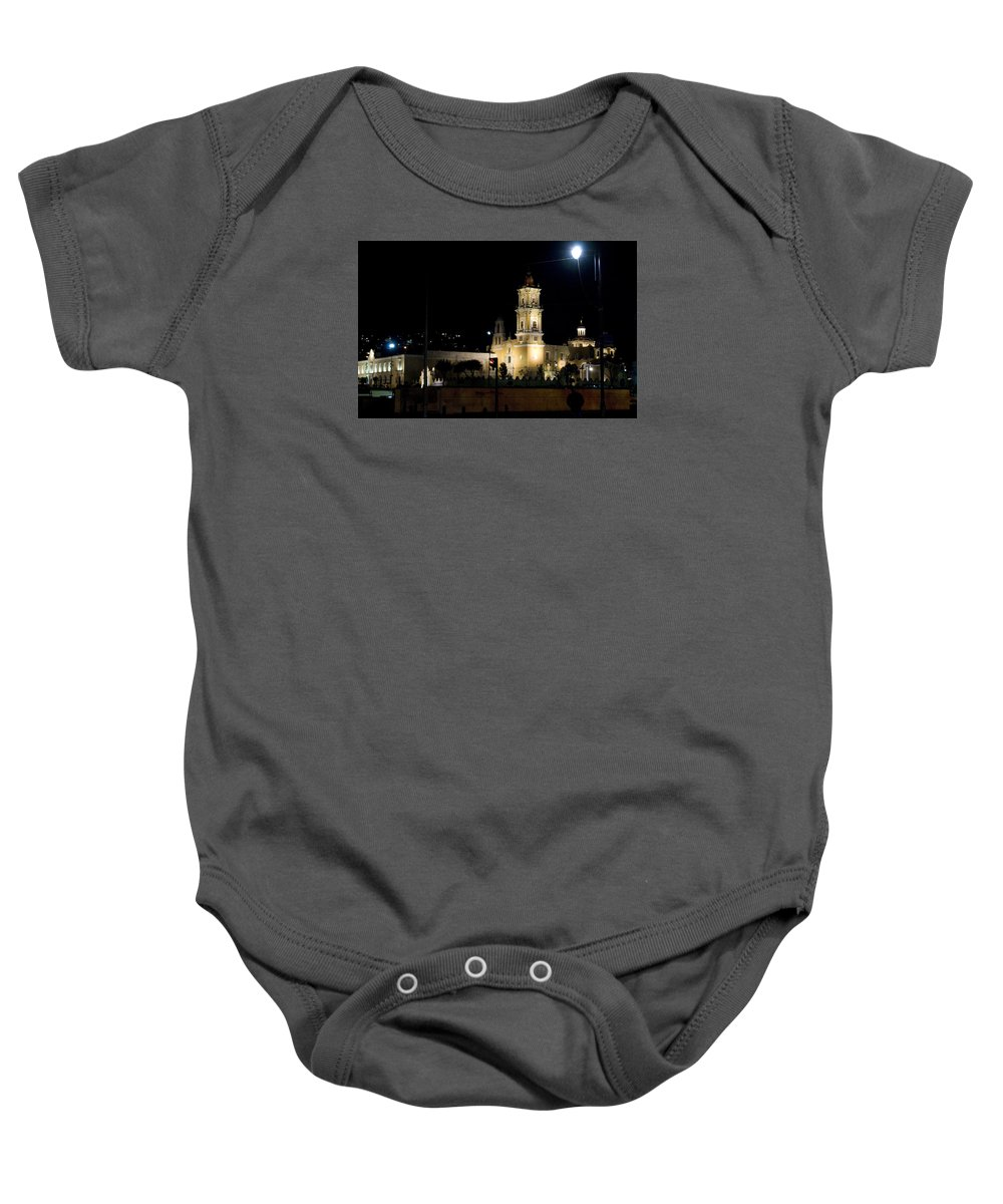 City Baby Onesie featuring the photograph Iglesia Del Carmen by Karl Magsig