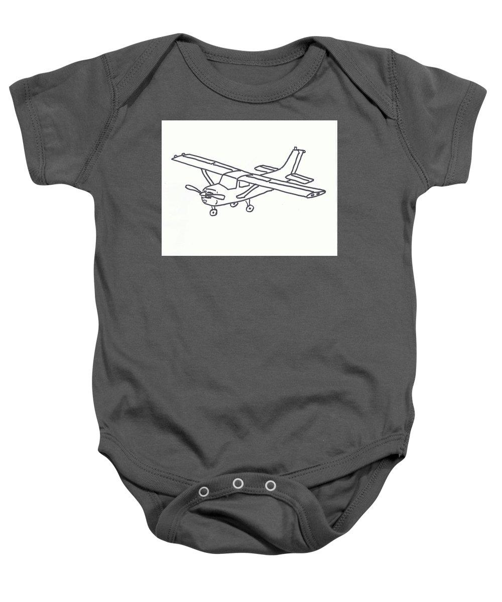 Cessna 172 Outline Baby Onesie