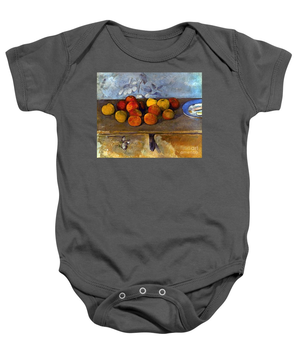 1880 Baby Onesie featuring the photograph Cezanne: Apples & Biscuits by Granger