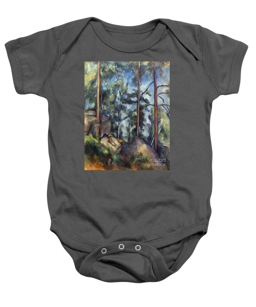 1899 Baby Onesie featuring the photograph Cezanne: Pines, 1896-99 by Granger