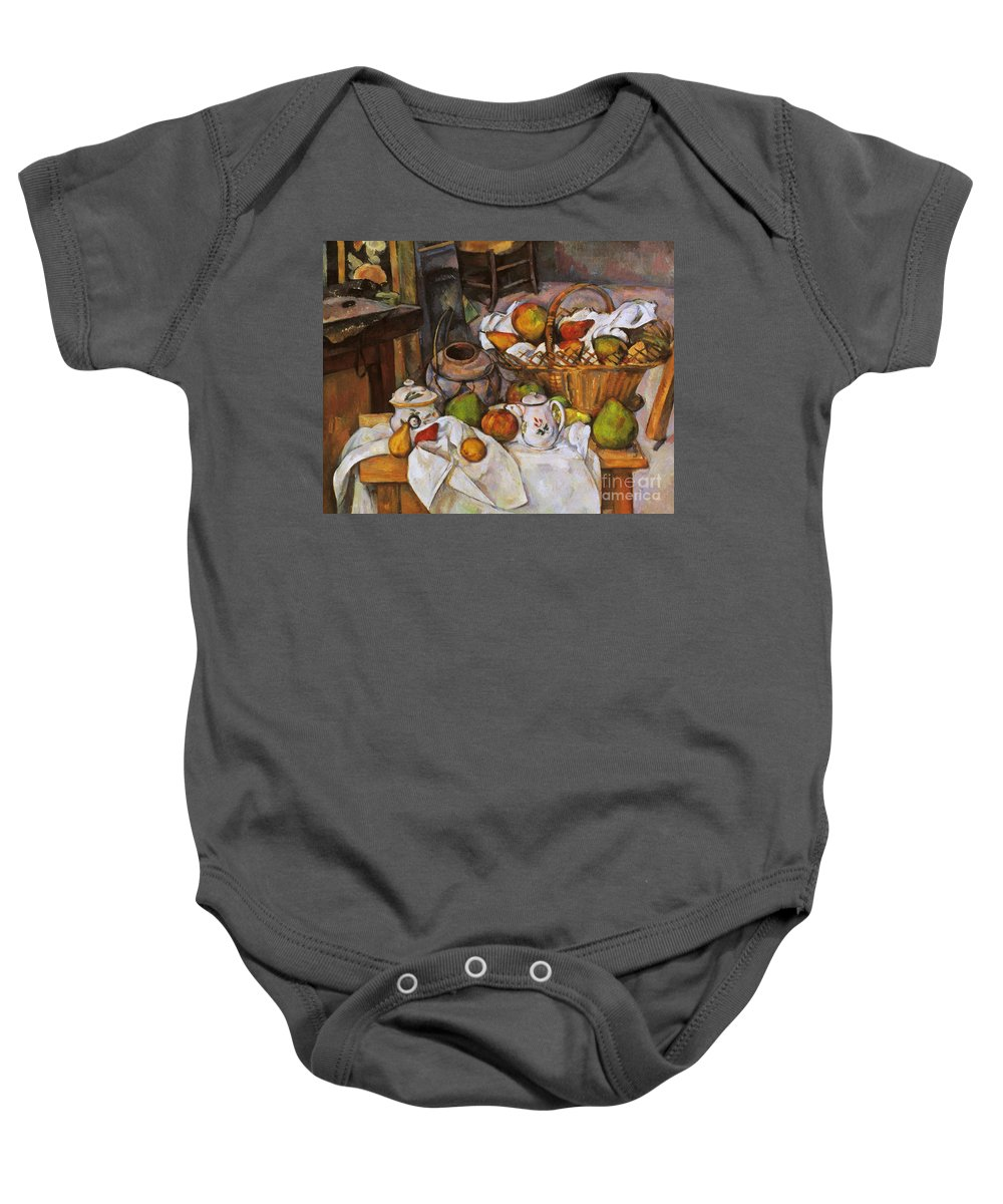 1890 Baby Onesie featuring the photograph Cezanne: Table, 1888-90 by Granger