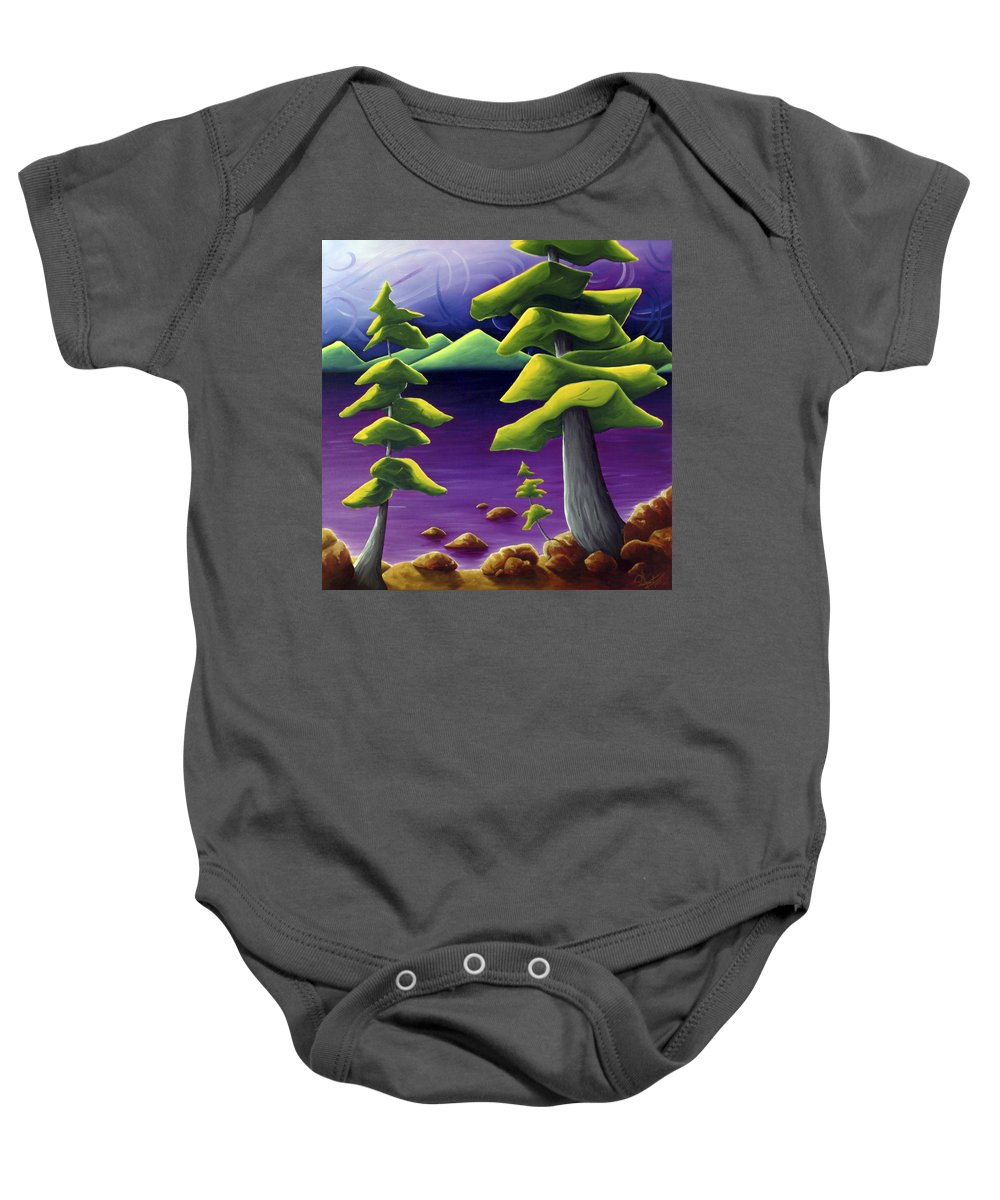 Landscape Baby Onesie featuring the painting Change Of Pace by Richard Hoedl