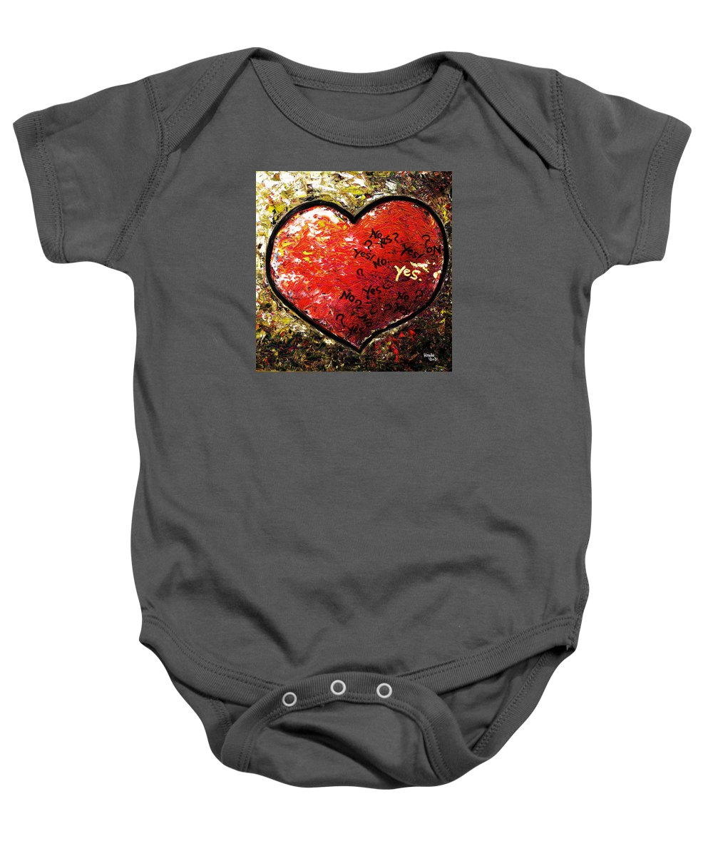 Pop Baby Onesie featuring the painting Chaos In Heart by Hiroko Sakai