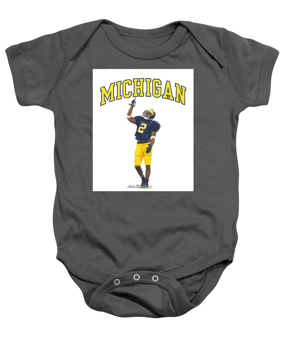 finest selection d9537 5a82d Charles Woodson Baby Onesie