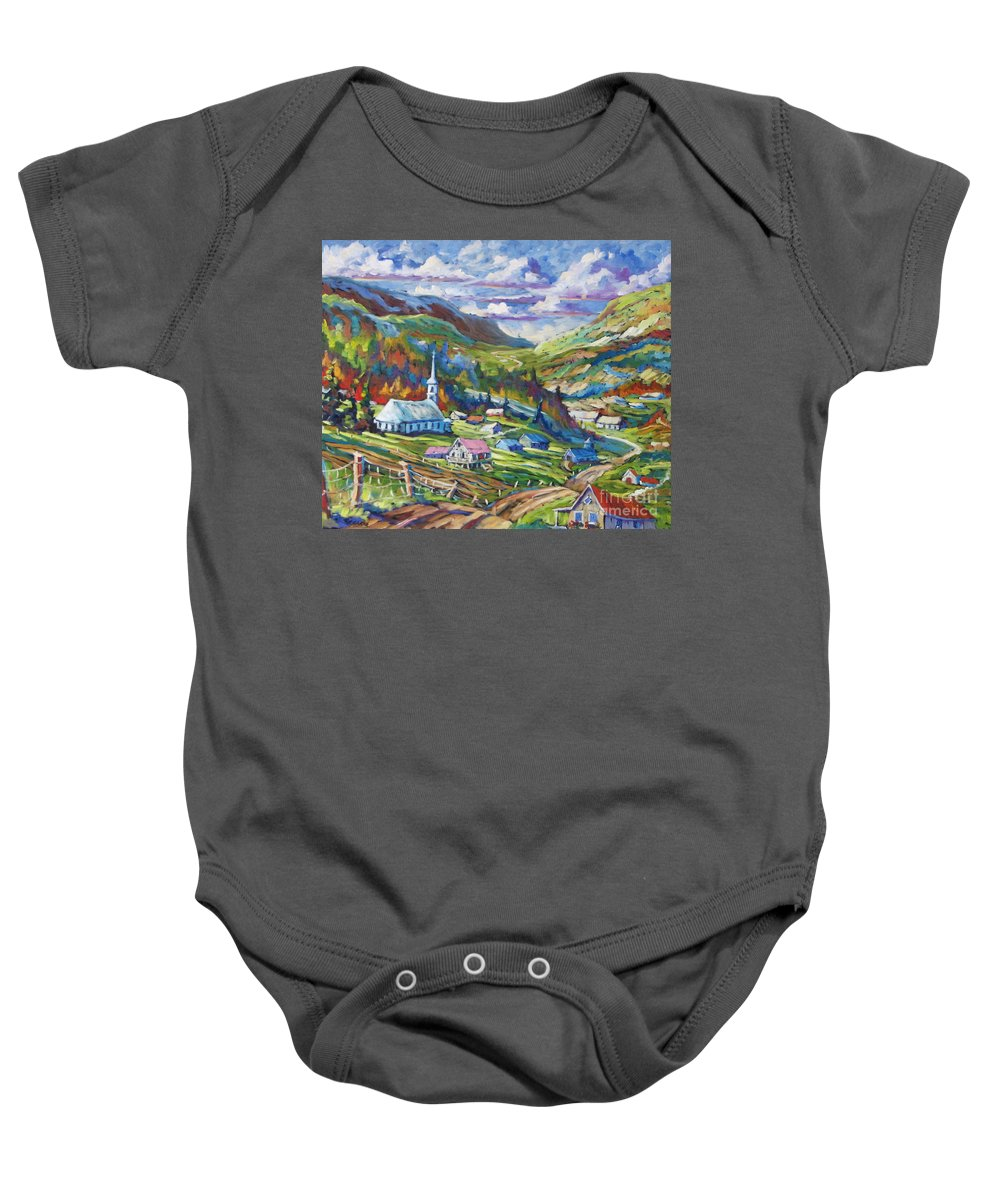 Charlevoix Baby Onesie featuring the painting Charlevoix Inspiration by Richard T Pranke