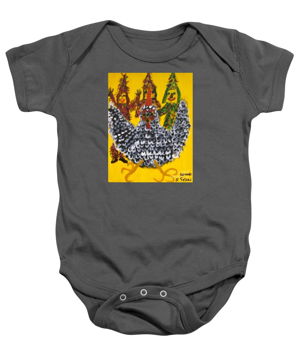 Chasing Baby Onesie featuring the painting Chasing The Zanga by Seaux-N-Seau Soileau