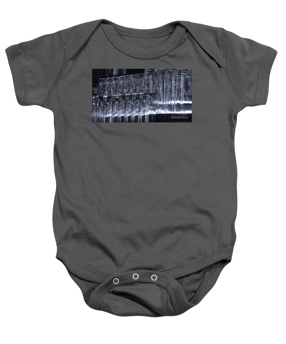 Tombstone Baby Onesie featuring the photograph Chasing Waterfalls - Blue by Linda Shafer