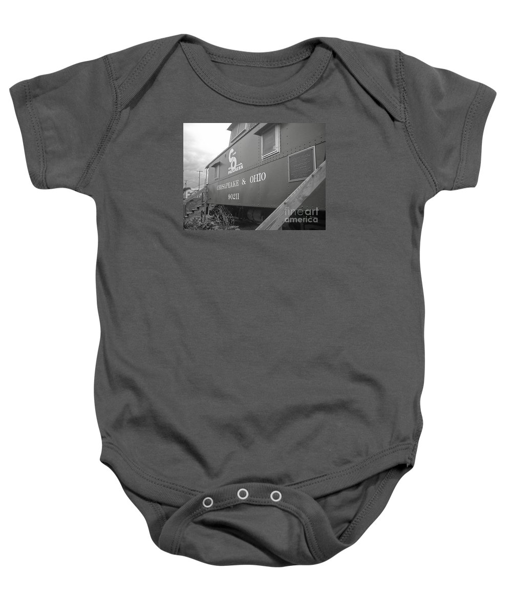 Caboose Baby Onesie featuring the photograph Chesapeake And Ohio by Dawn Downour