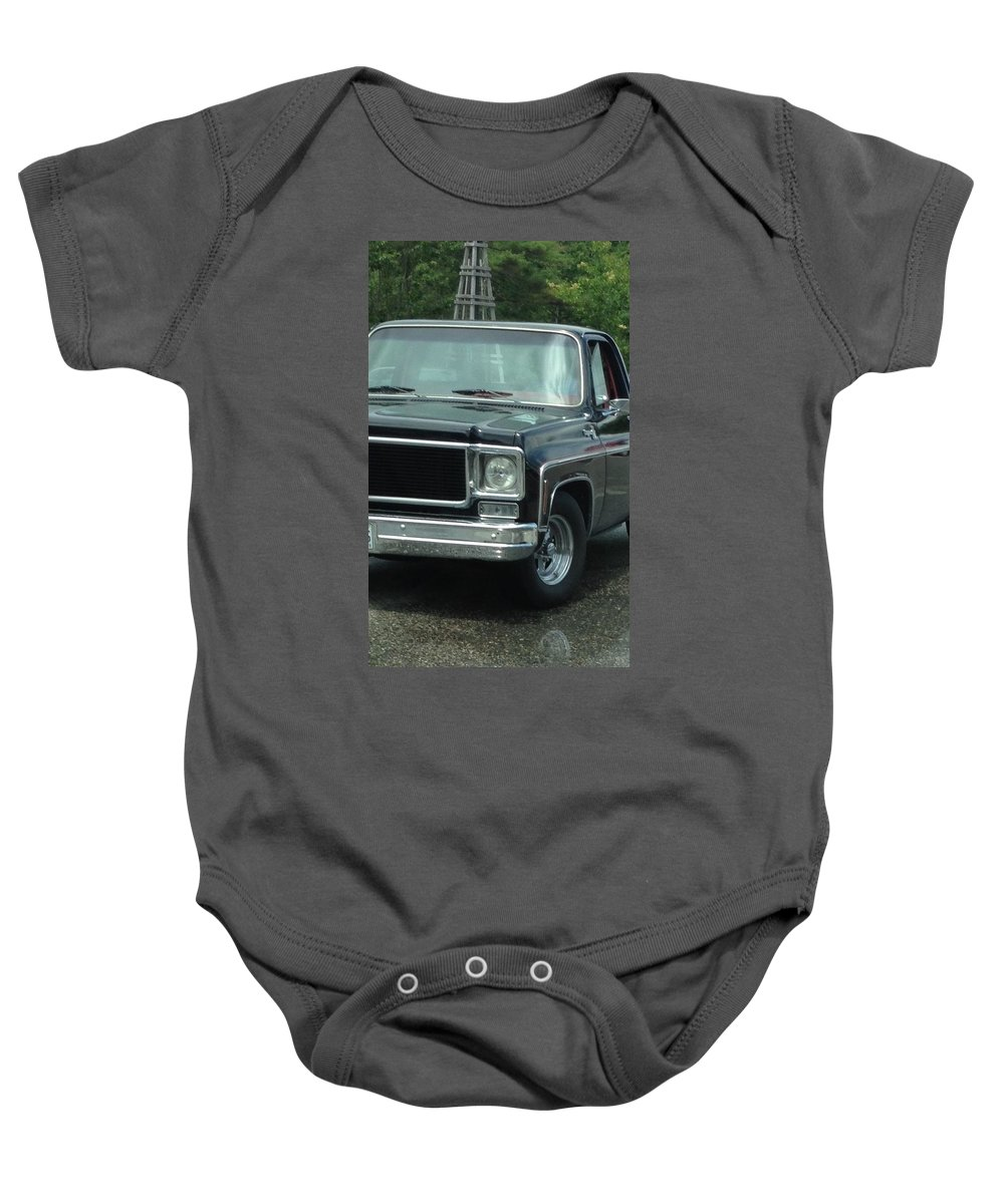 Chevy Truck Baby Onesie featuring the photograph Chevy Vintage Truck by Michael Martone