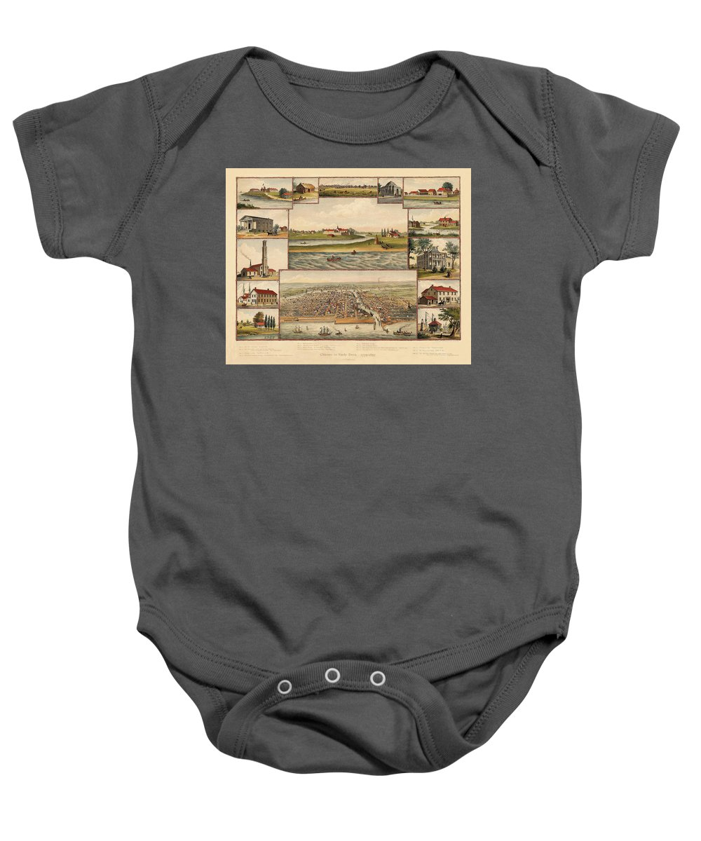 Chicago Baby Onesie featuring the photograph Chicago 1779-1857 by Andrew Fare