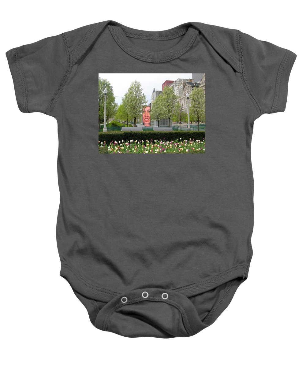 Chicago Baby Onesie featuring the photograph Chicago by Jean Macaluso