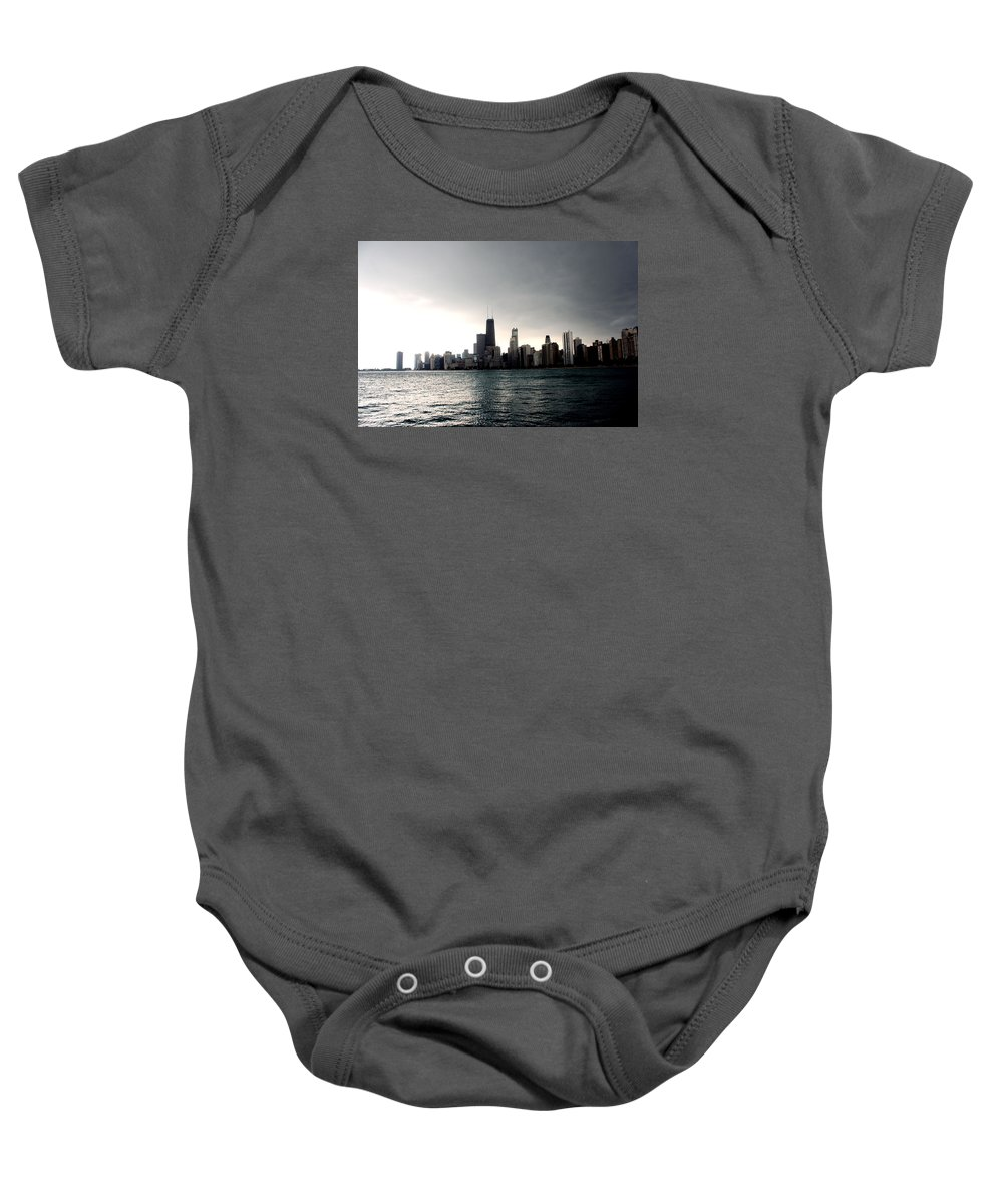 Cloud Baby Onesie featuring the photograph Chicago by Marley Hornewer