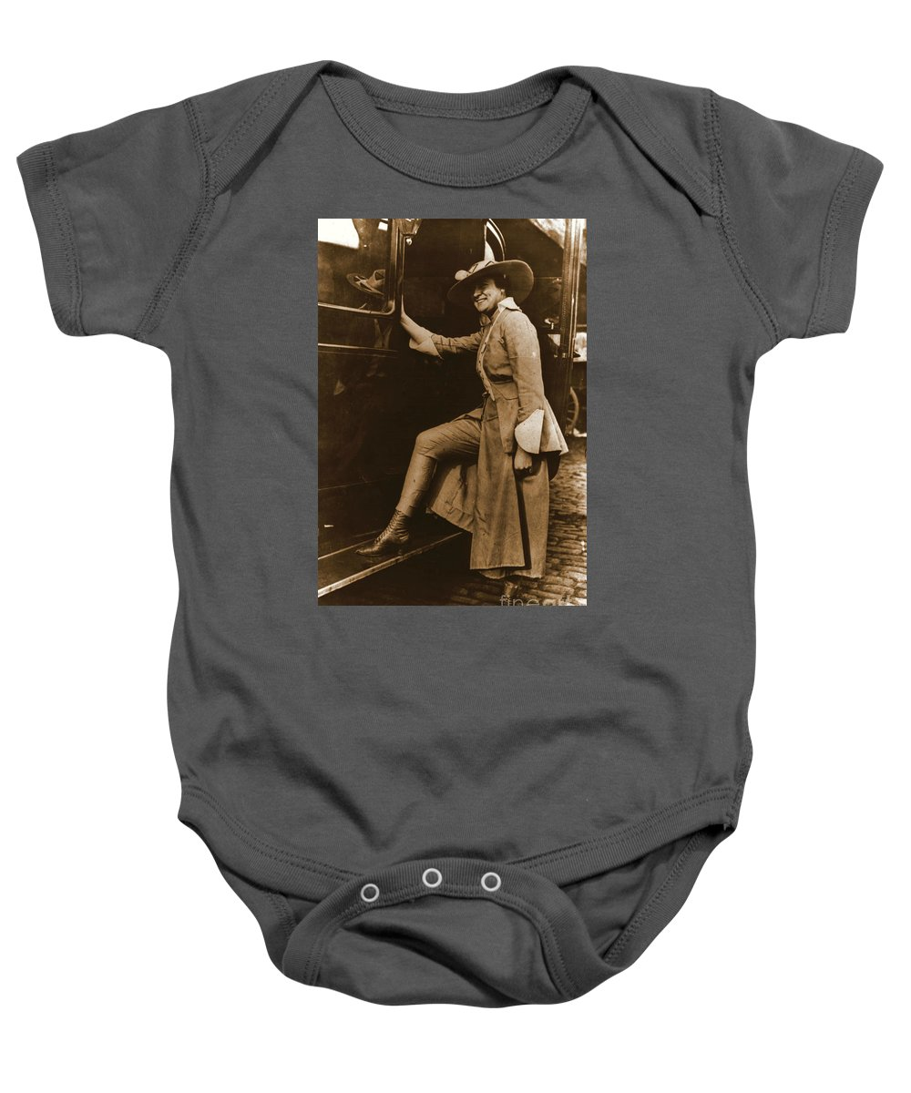 Chicago Suffragette Marching Costume Baby Onesie featuring the photograph Chicago Suffragette Marching Costume by Padre Art