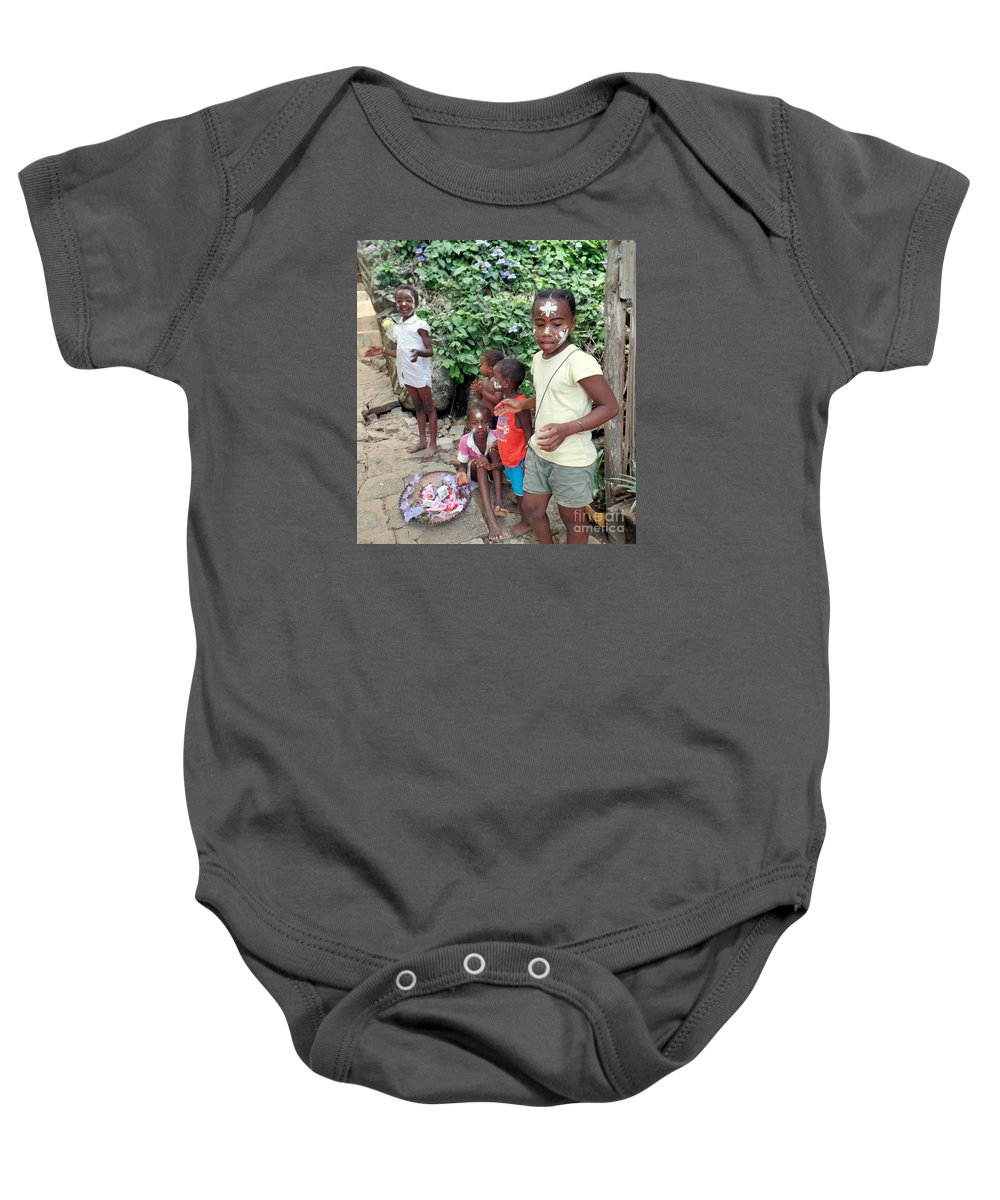 Children Baby Onesie featuring the photograph Children Of Madagascar by John Potts