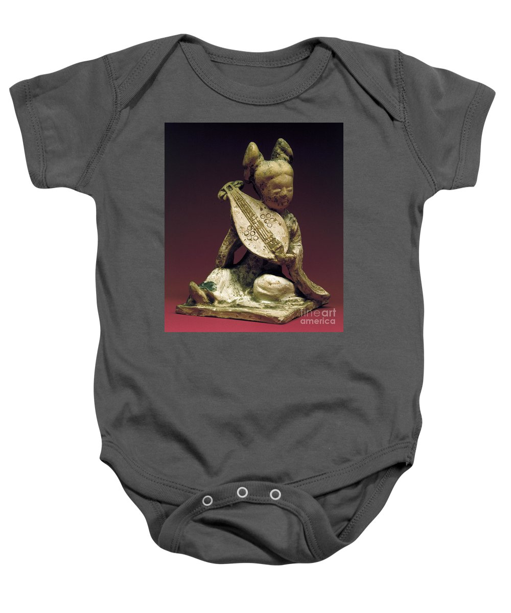 10th Century Baby Onesie featuring the photograph China: Musician by Granger