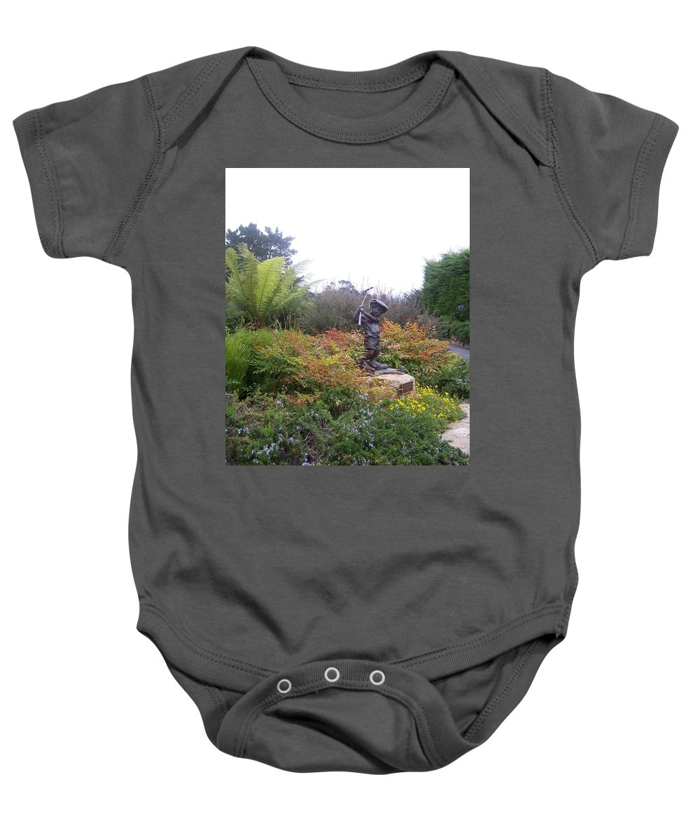 Child Baby Onesie featuring the photograph Chip Off The Old Block by Pharris Art