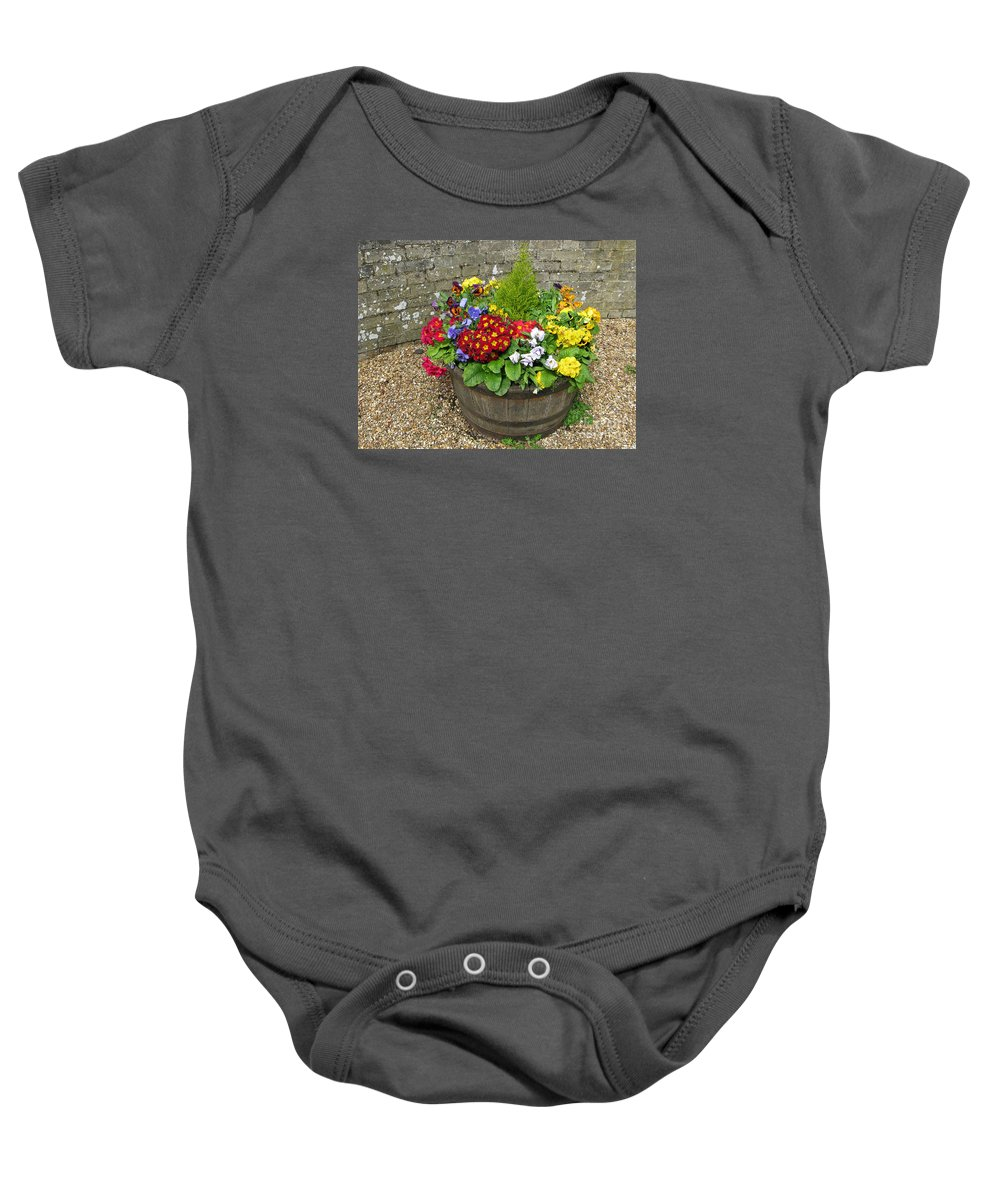 Flowers Baby Onesie featuring the photograph Chock Full Of Color by Ann Horn