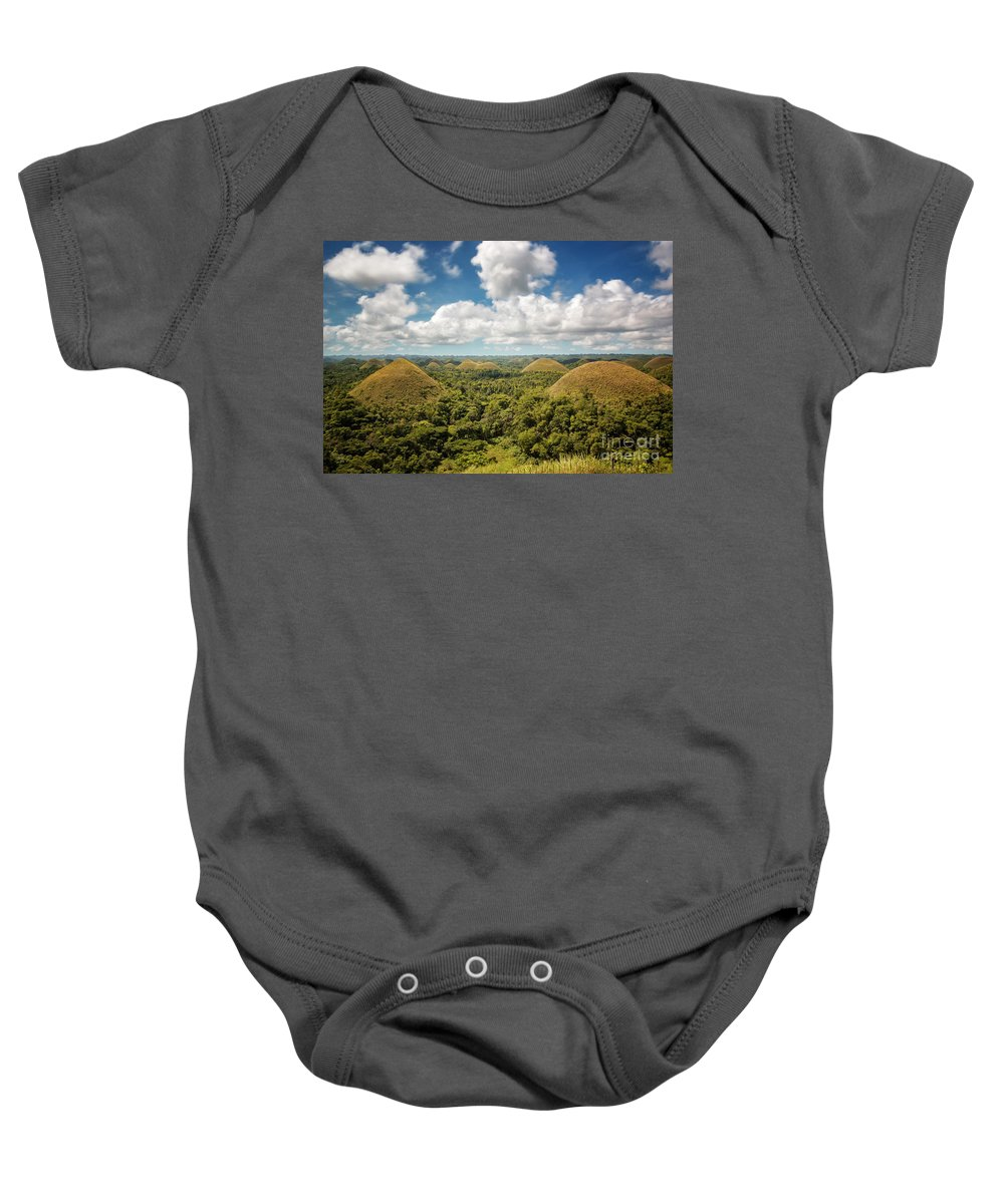 Landscape Baby Onesie featuring the photograph Chocolate Hills by Marlon Malabuyoc