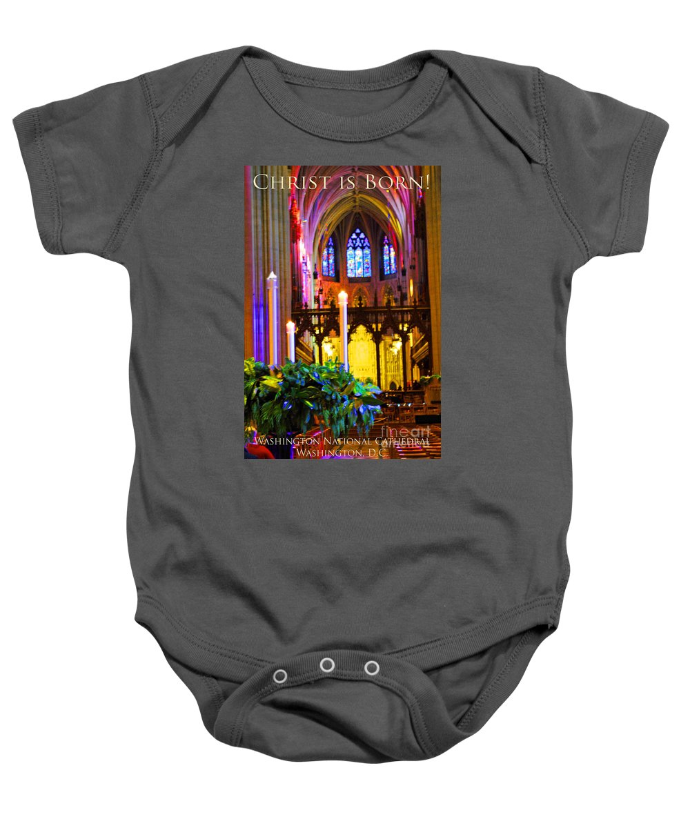 Washington Baby Onesie featuring the photograph Christ Is Born Travel by Jost Houk