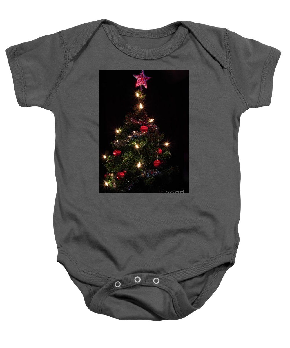 Christmas Tree Baby Onesie featuring the photograph Christmas Tree 2 by Esko Lindell