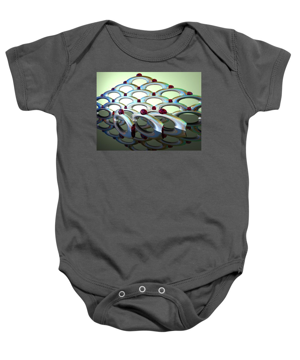 Scott Piers Baby Onesie featuring the painting Chrome Sundae by Scott Piers