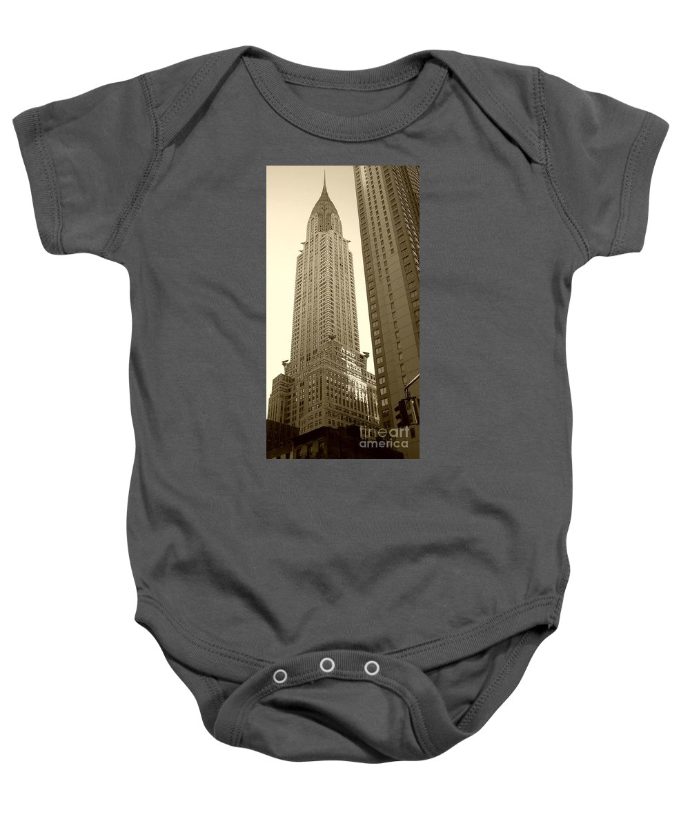 New York Baby Onesie featuring the photograph Chrysler Building by Debbi Granruth