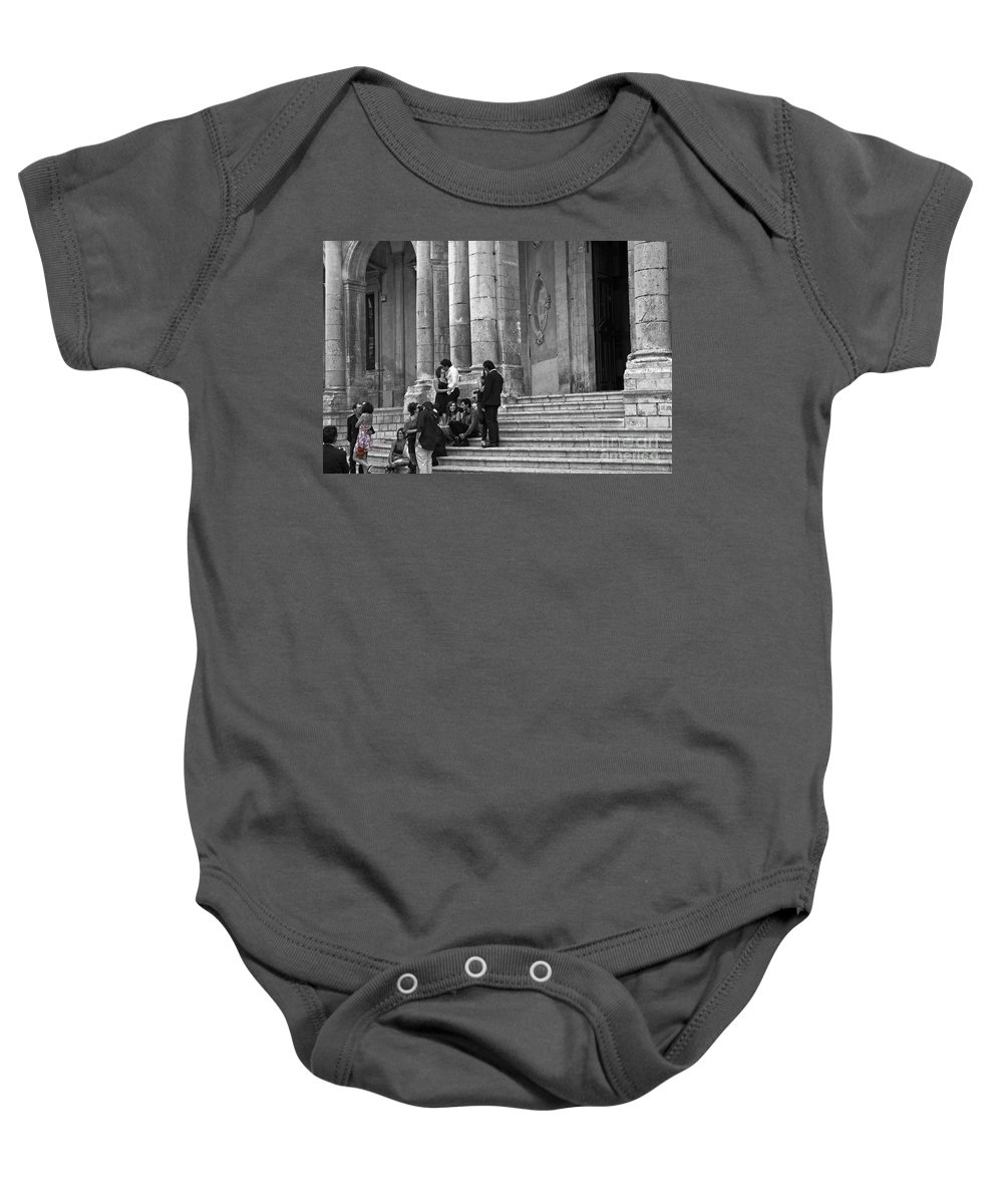 Church Baby Onesie featuring the photograph Church Step Lovers by Madeline Ellis