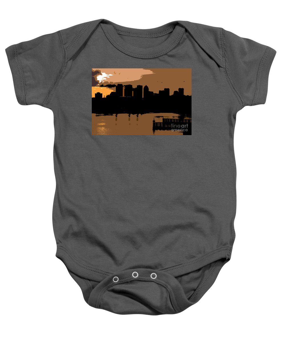 City Baby Onesie featuring the photograph City By The Bay by David Lee Thompson