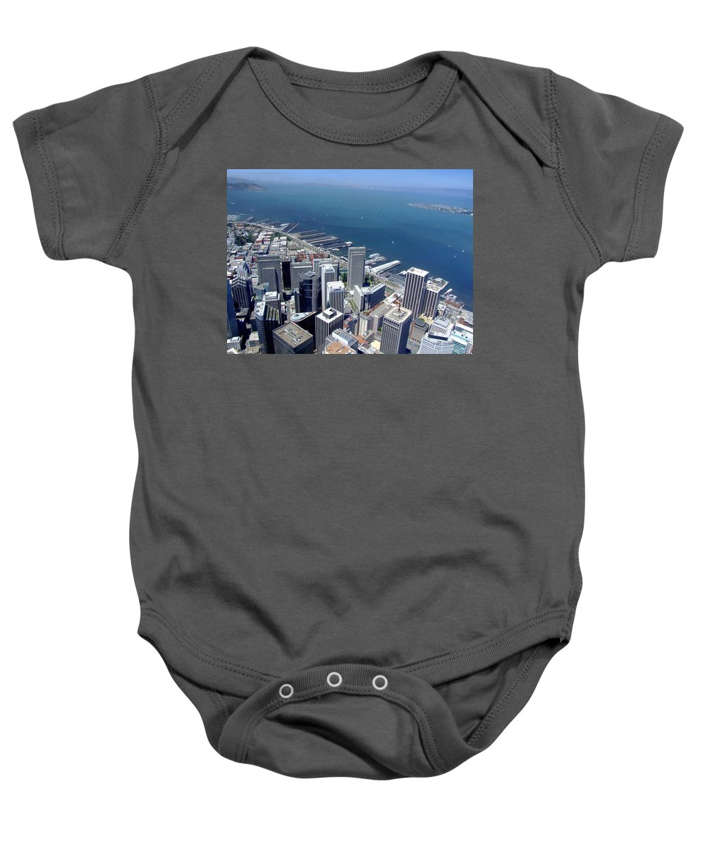 San Francisco Baby Onesie featuring the photograph City By The Bay by Donna Blackhall