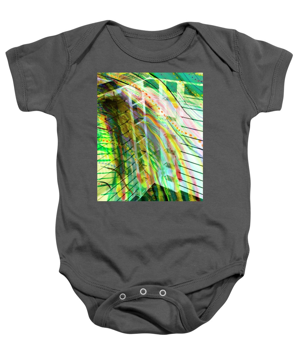 City Baby Onesie featuring the photograph City In Motion 56 by Don Zawadiwsky