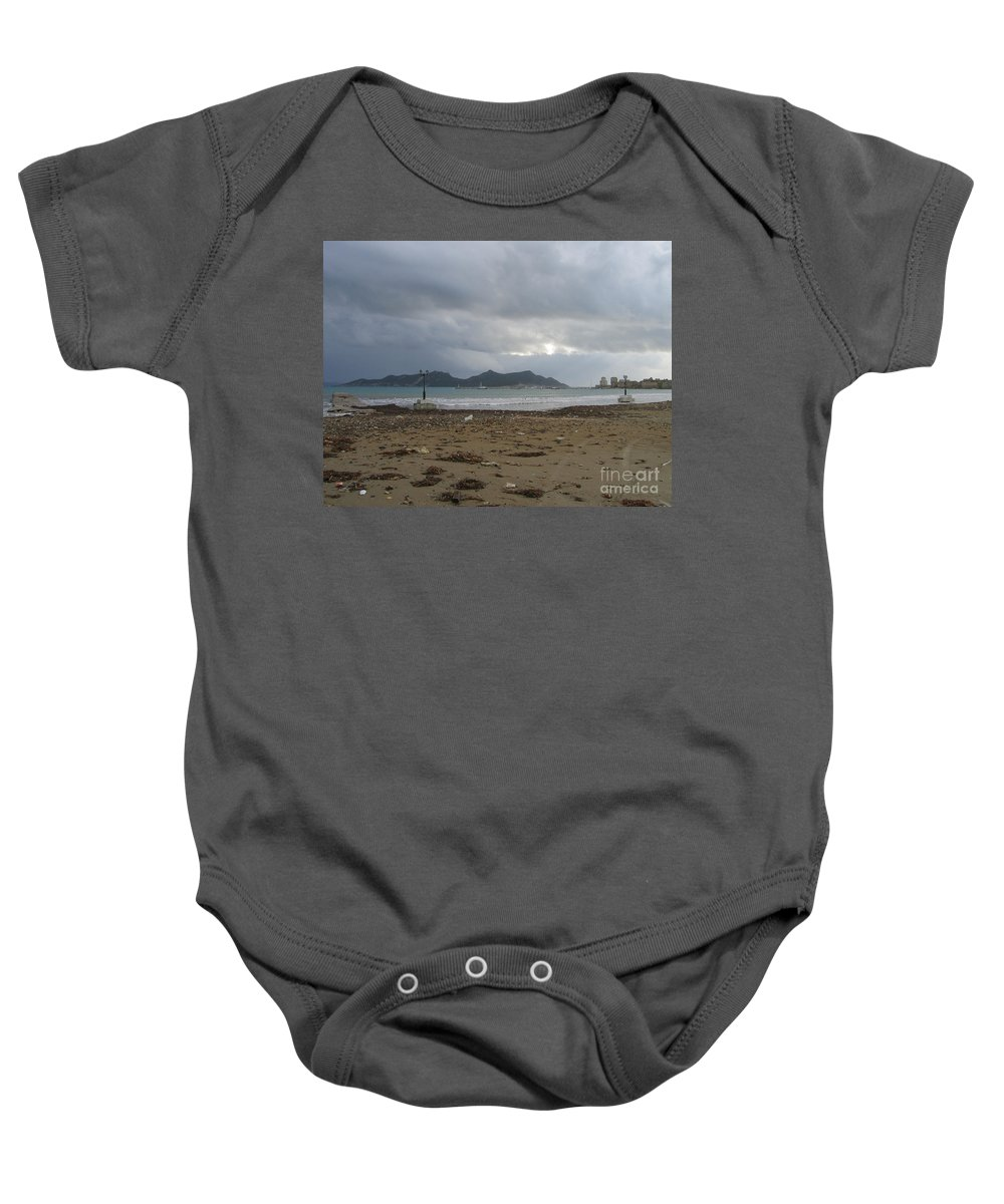 Greece Baby Onesie featuring the photograph City Lost To The Sea by Clay Cofer