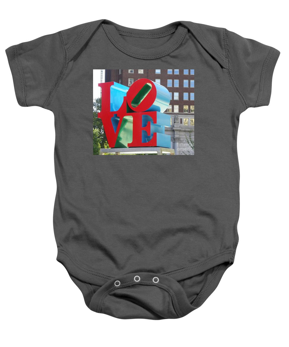 City Of Love Baby Onesie featuring the photograph City Of Love by Gerald Kloss
