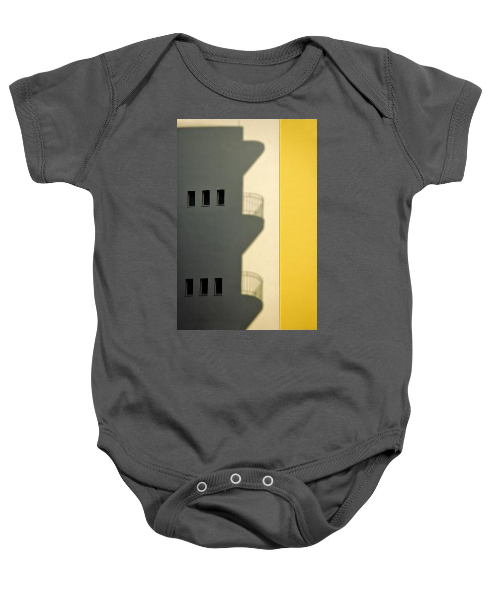 City Baby Onesie featuring the photograph City Shadow by Silvia Ganora