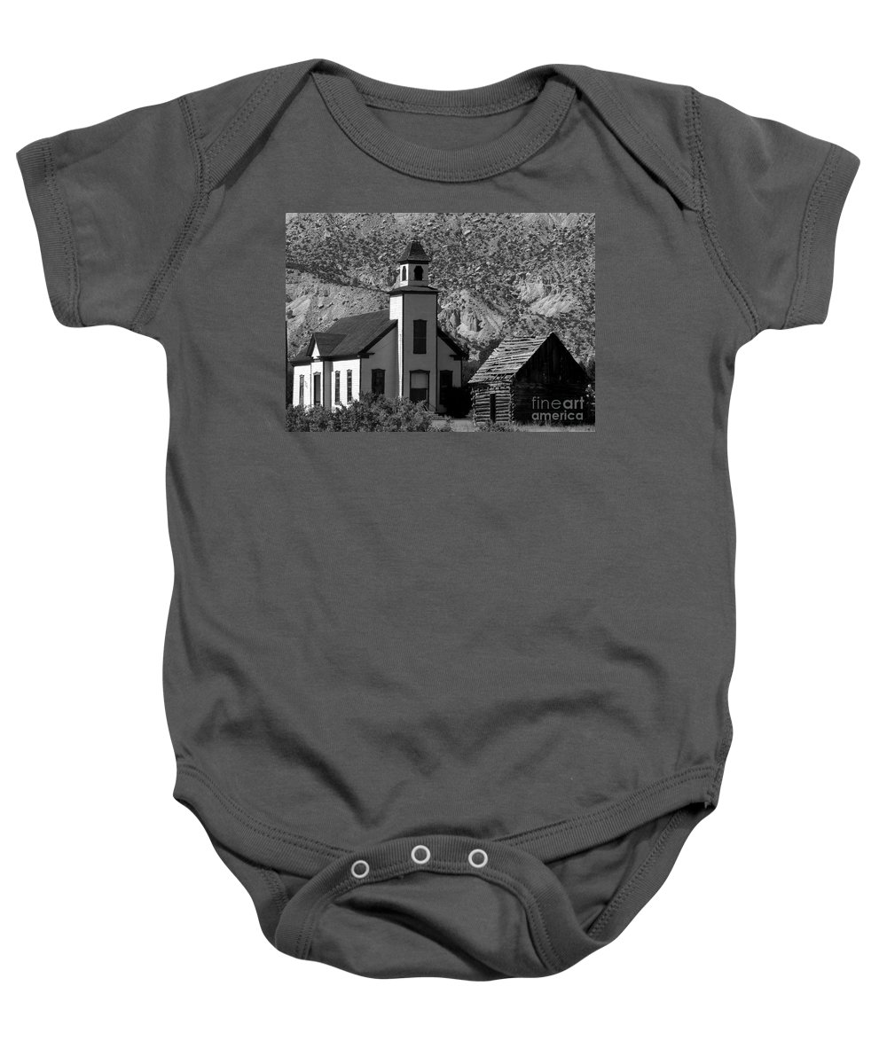Mormon Baby Onesie featuring the photograph Clapboard Church 1898 by David Lee Thompson