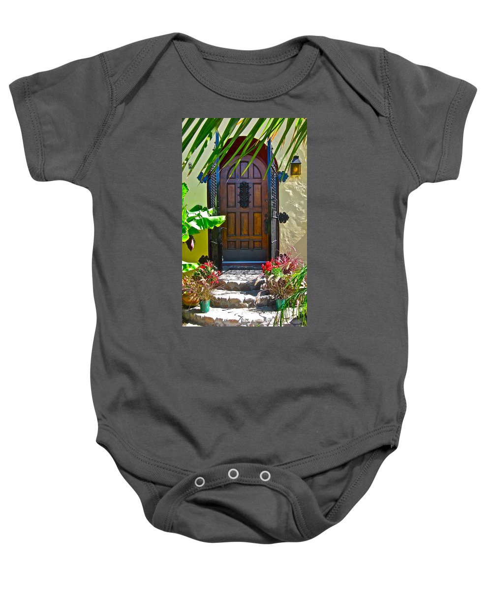 Photograph Of Door Baby Onesie featuring the photograph Classic Belmont Shore by Gwyn Newcombe