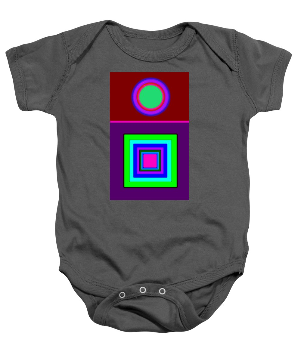 Classical Baby Onesie featuring the painting Classical Violet by Charles Stuart