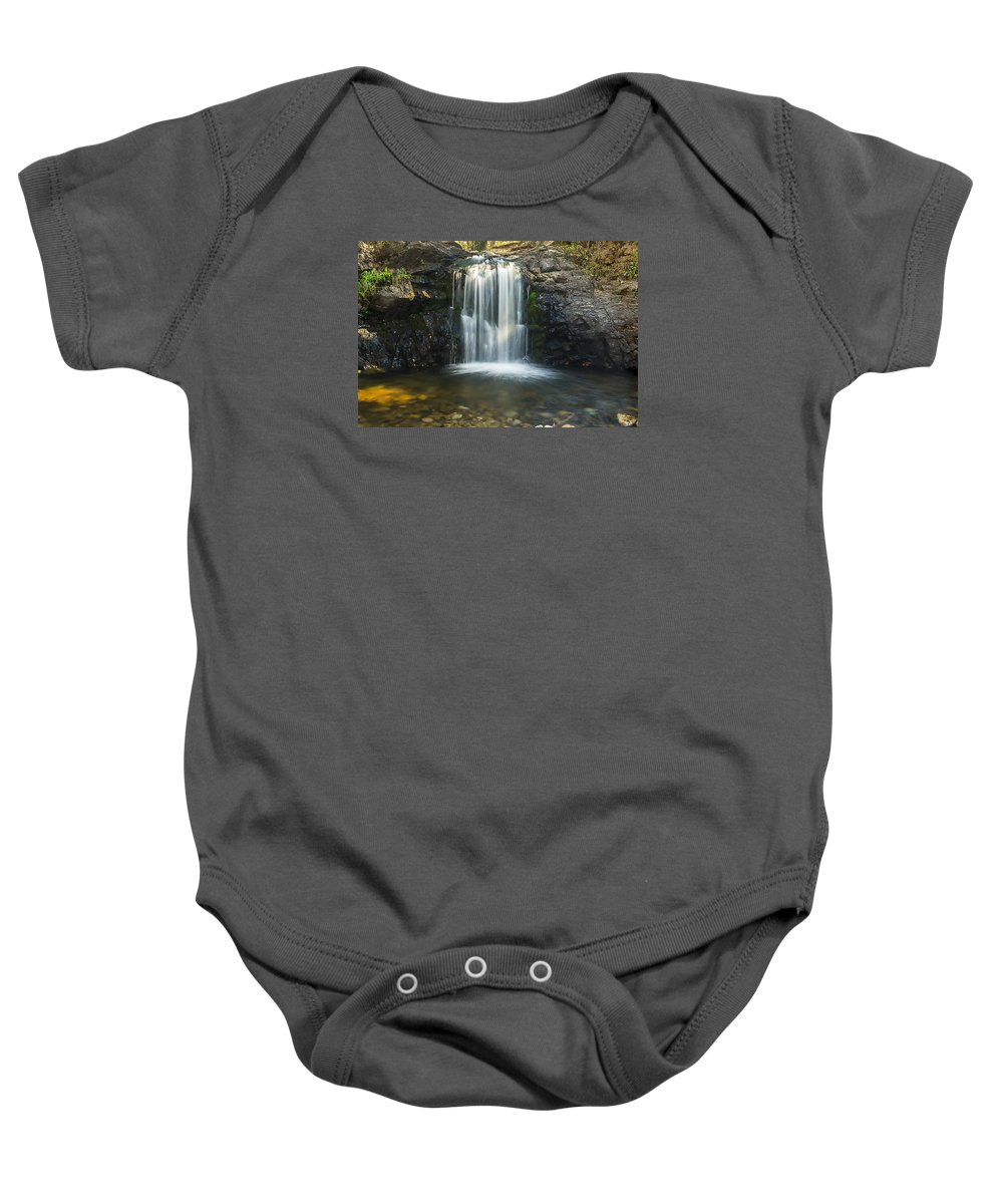 Waterfall Baby Onesie featuring the photograph Clear Creek Water Fall by Rod Goodwin