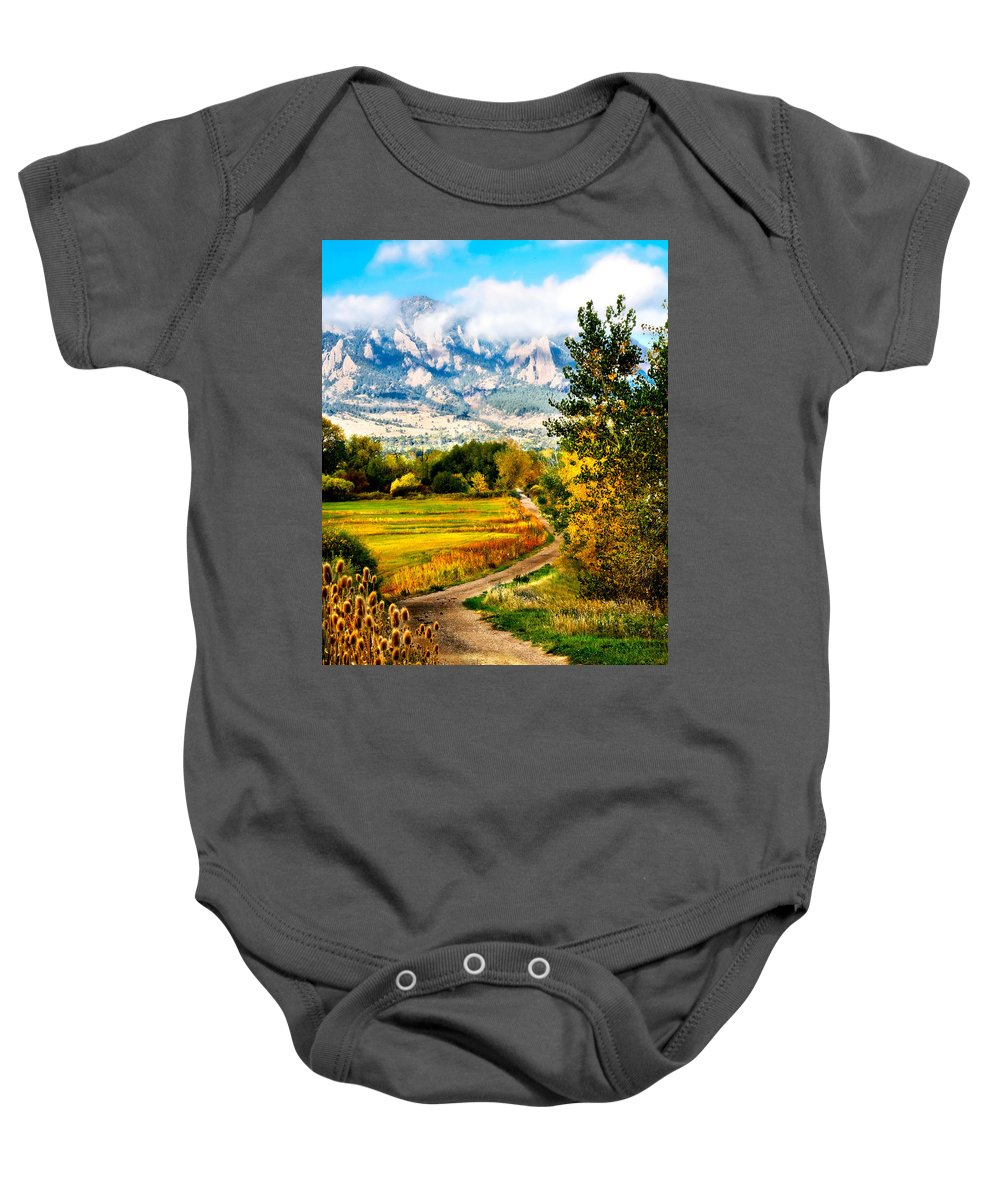 Americana Baby Onesie featuring the photograph Clearly Colorado by Marilyn Hunt