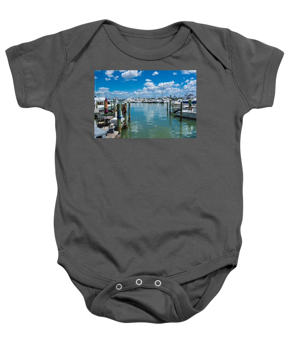 Clearwater Baby Onesie featuring the photograph Clearwater Marina by John Greco