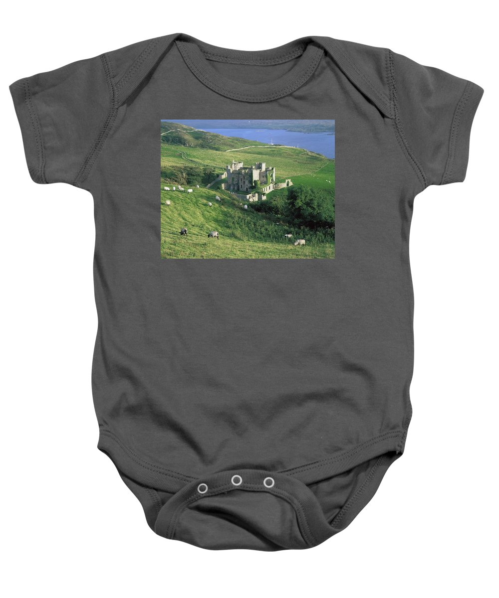 Architecture Baby Onesie featuring the photograph Clifden Castle, Co Galway, Ireland 19th by The Irish Image Collection