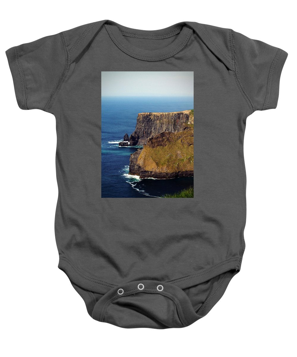 Irish Baby Onesie featuring the photograph Cliffs Of Moher Ireland View Of Aill Na Searrach by Teresa Mucha