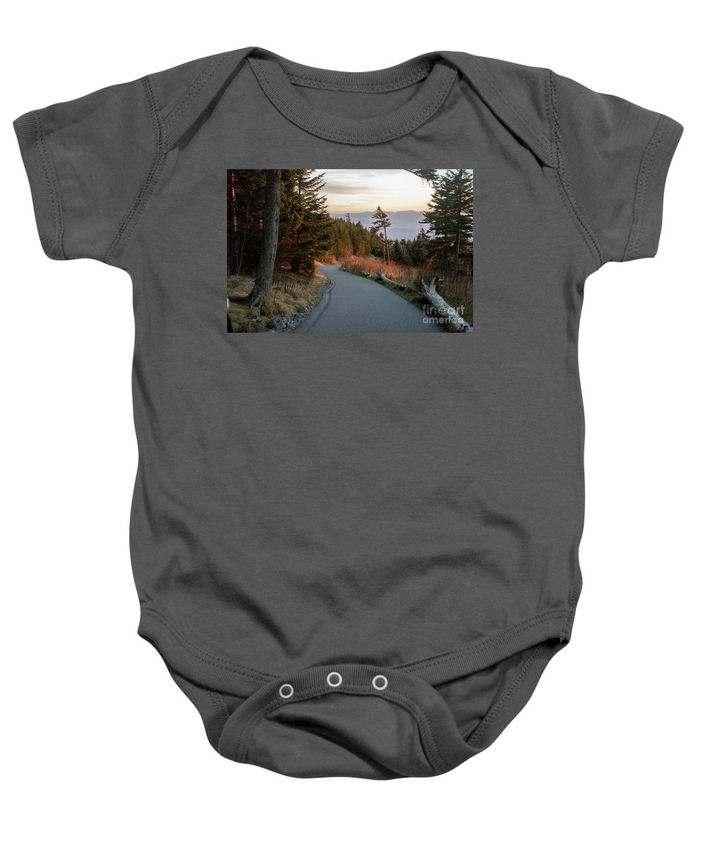 Smoky Mountain National Park Baby Onesie featuring the photograph Clingman's Dome by Bernd Billmayer