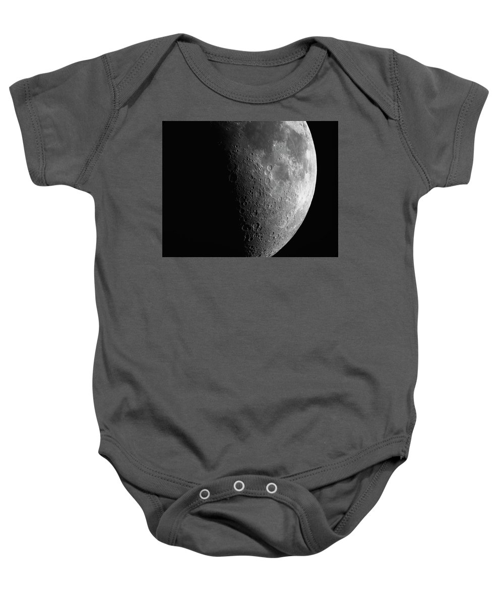 Moon Baby Onesie featuring the photograph Close-up Of Moon by Peter Ponzio