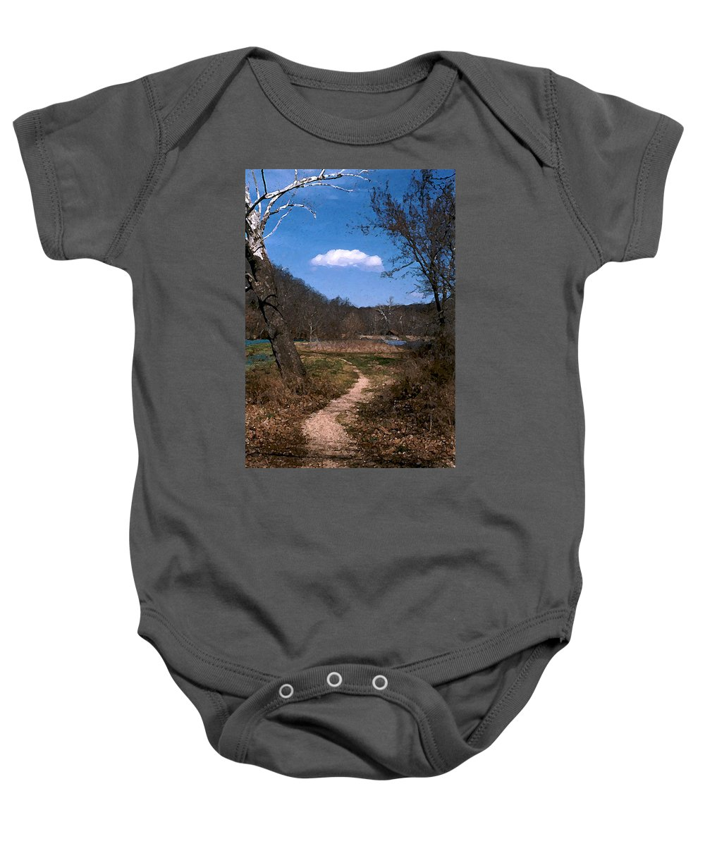 Landscape Baby Onesie featuring the photograph Cloud Destination by Steve Karol