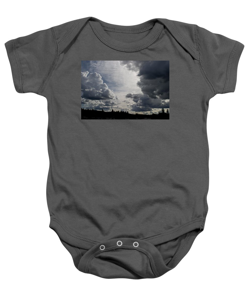 Landscape Baby Onesie featuring the photograph Cloud Study 2 by Lee Santa