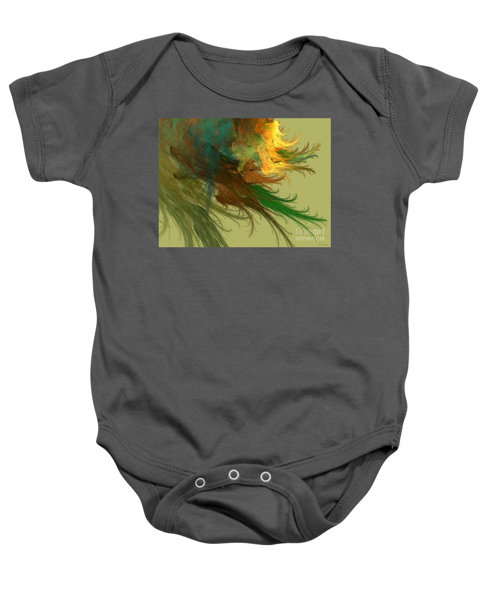 Digital Baby Onesie featuring the mixed media Clouds Of Color by Deborah Benoit