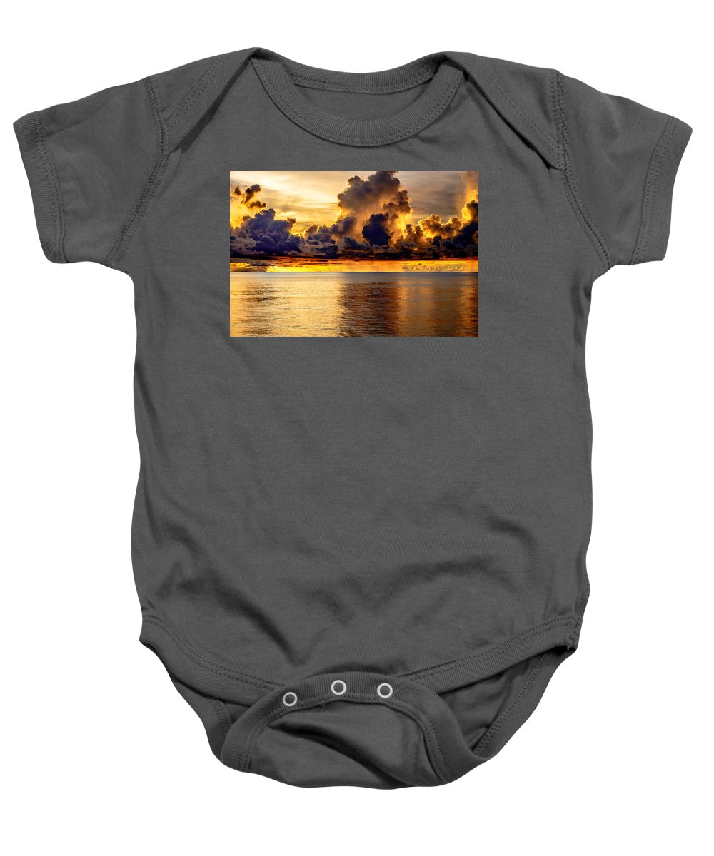 Seascape Baby Onesie featuring the photograph Clouds Within The Clouds by Michael Scott